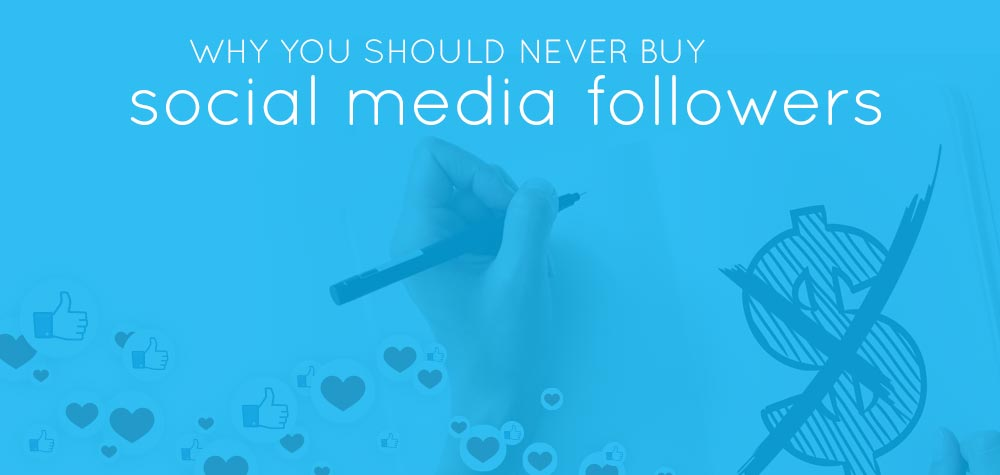 "header says ""why you should never buy social media followers"""