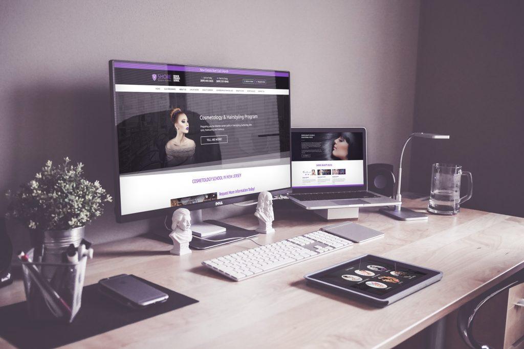 laptop computer displaying a web site we built