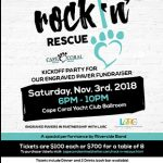 poster for event at cape coral animal shelter