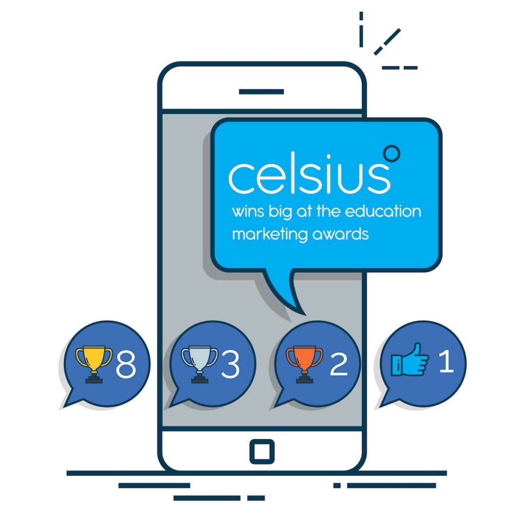 Celsius wins big at the education marketing awards