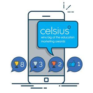 Celsius wins big at the education marketing awards