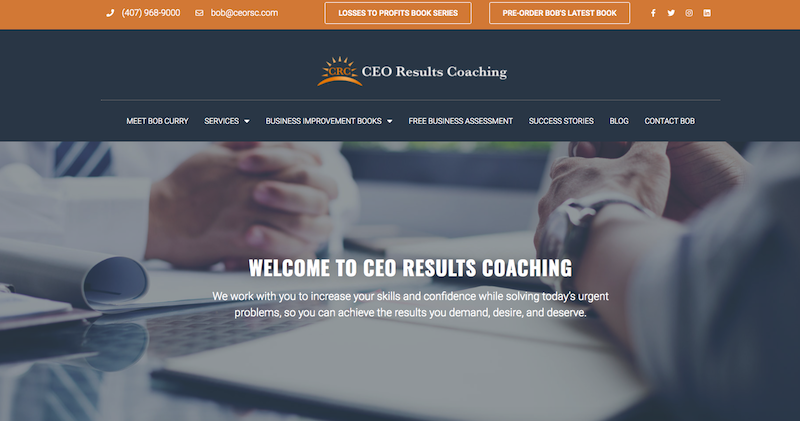 CEO Results Coaching Website
