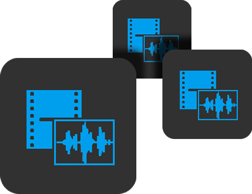 audio/video clip icons