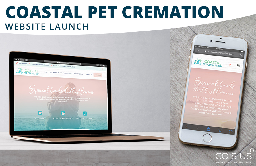 Coastal Pet Cremations Website Launch